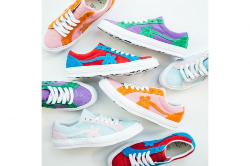 c708608bb217 Converse has collaborated with Tyler The Creator once again for a new drop  of GOLF Le FLEUR  One Star in a limited range of exciting colours and  designs.
