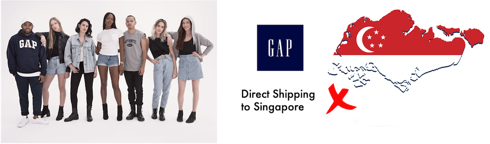 shop gap ship to Singapore